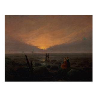 Cartão Postal Lua que aumenta sobre o mar, 1821