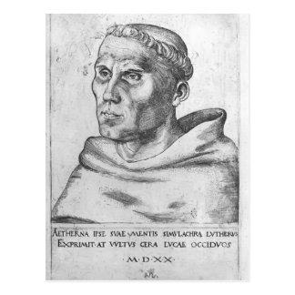 Cartão Postal Lucas Cranach o Martin mais idoso Luther como uma