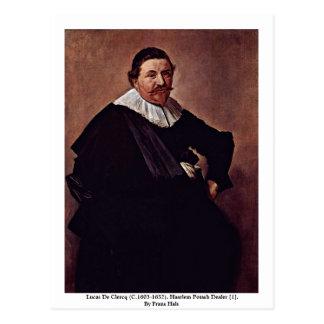 Cartão Postal Lucas De Clercq (C.1603-1652).