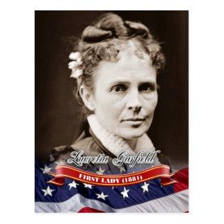 Cartão Postal Lucretia Garfield, primeira senhora dos E.U.