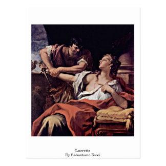 Cartão Postal Lucretia por Sebastiano Ricci