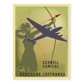 Cartão Postal Lufthansa 1937