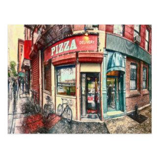 Cartão Postal Lugar da pizza da Nova Iorque pelo Mac de Shawna