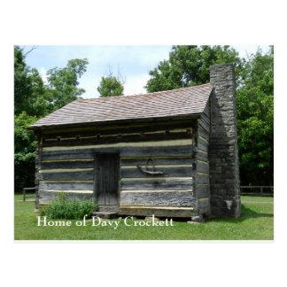 Cartão Postal Lugar de nascimento de Davy Crockett