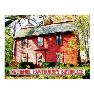 Cartão Postal Lugar de nascimento de Nathaniel Hawthorne, Salem,