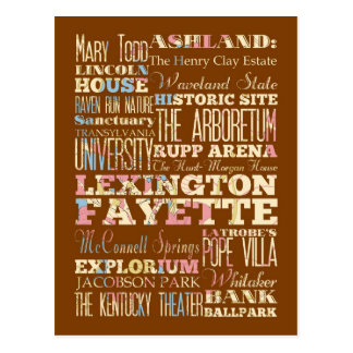 Cartão Postal Lugares famosos de Lexington Fayette, Kentucky.