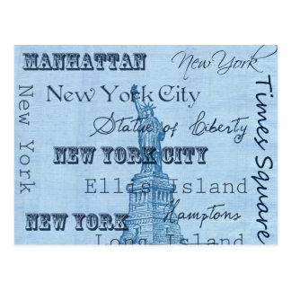 Cartão Postal Lugares New York
