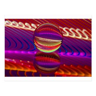 Cartão Postal Luminosidade na bola de cristal
