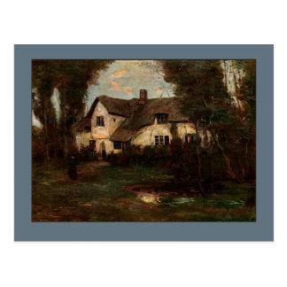 Cartão Postal Lustleigh, casa de campo de Devonshire em