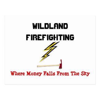 Cartão Postal Luta contra o incêndio do Wildland
