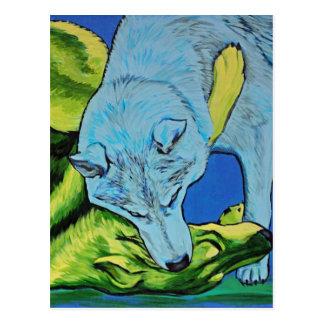 Cartão Postal Luta dos lobos