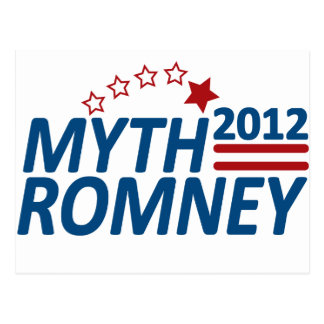 Cartão Postal Luva 2012 de Romney do mito anti