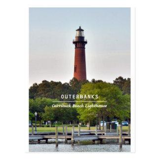 Cartão Postal Luz da praia de Currituck