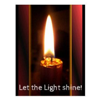 Cartão Postal Luz de brilho