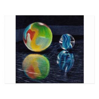 Cartão Postal Luz de mármore