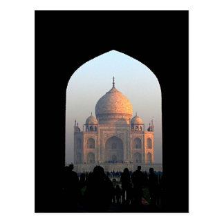 Cartão Postal Luz de Taj Mahal da foto da arquitetura de India