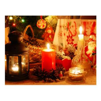 Cartão Postal Luz de vela no Natal