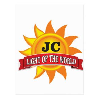 Cartão Postal luz do jc do mundo