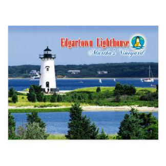 Cartão Postal Luz do porto de Edgartown, Martha's Vineyard, MÃES