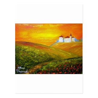 Cartão Postal Luz do sol de Toscânia