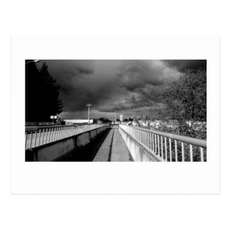 Cartão Postal Luz preto e branco 2