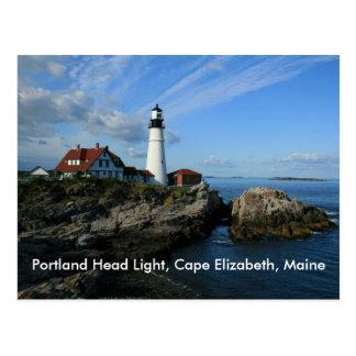 Cartão Postal Luz principal de Portland, cabo Elizabeth, Maine