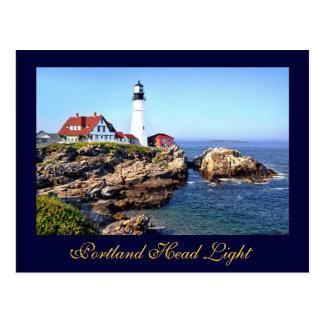 Cartão Postal Luz principal de Portland, cabo Elizabeth, Maine,
