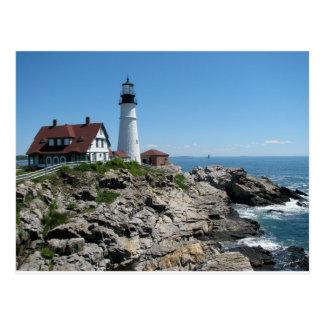 Cartão Postal Luz principal de Portland, Maine, EUA