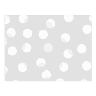 Cartão Postal Luz - teste padrão dotty do cinza e o branco
