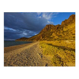 Cartão Postal Luz tormentoso em Isla Carmen no golfo de
