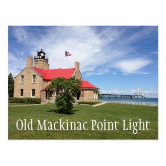 Cartão Postal Luz velha do ponto de Mackinac