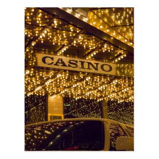 Cartão Postal Luzes brilhantes Las Vegas do casino que joga o