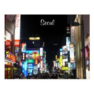 Cartão Postal luzes da noite de seoul