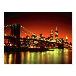 Cartão Postal Luzes da Nova Iorque