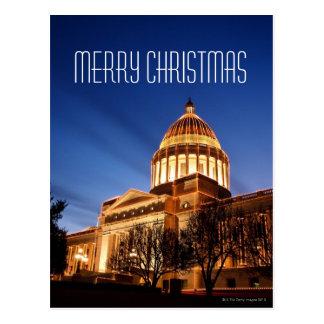 Cartão Postal Luzes de Natal no Capitólio, Little Rock