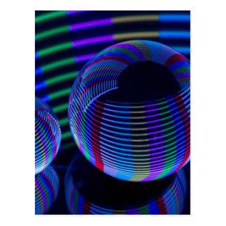 Cartão Postal Luzes espirais no cristal