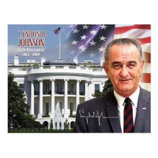 Cartão Postal Lyndon B. Johnson - 36th presidente dos E.U.