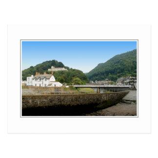 Cartão Postal Lynmouth e montes