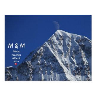 Cartão Postal M & m - Moon frade touches