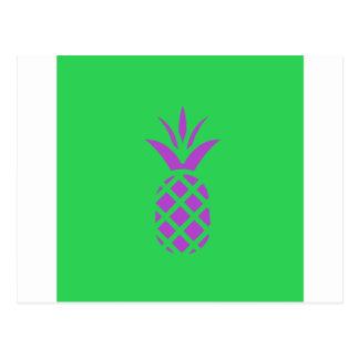 Cartão Postal Maçã roxa do pinho no verde