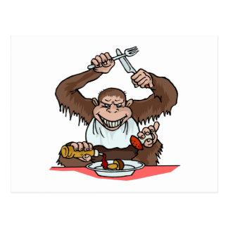 Cartão Postal Macaco com fome