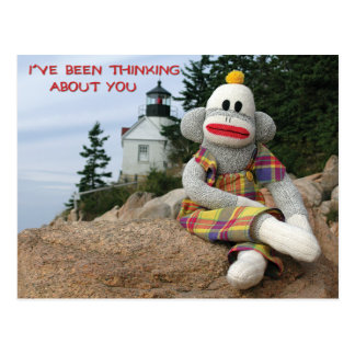 Cartão Postal Macaco de pensamento
