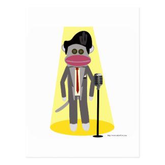 Cartão Postal Macaco do cantor
