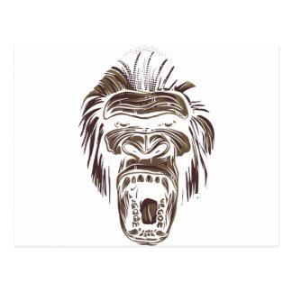 Cartão Postal macaco feio do vintage