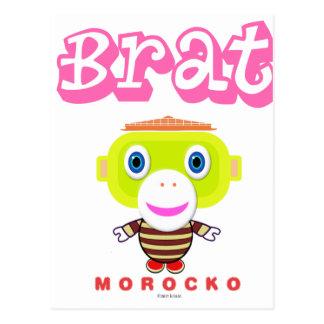 Cartão Postal Macaco-Morocko Pirralho-Bonito