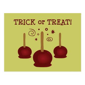 Cartão Postal Maçãs de doces da doçura ou travessura