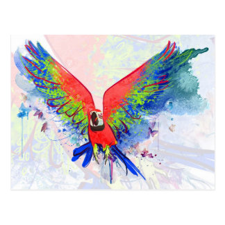 Cartão Postal Macaw do papagaio de Amazon