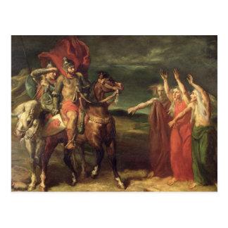 Cartão Postal Macbeth e as três bruxas, 1855