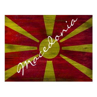 Cartão Postal Macedónia afligiu a bandeira