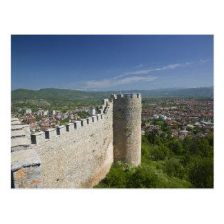 Cartão Postal MACEDÓNIA, Ohrid. O castelo de Samoil do carro/